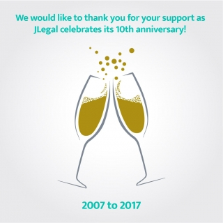 $JLegal 10th Anniversary